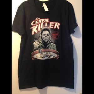 "Myers Cereal Killer tee ""Screams In Every Box"""